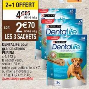 Bon Plan Friandises pour Chien Purina Dentalife chez Cora (26/02 - 04/03) - anti-crise.Fr