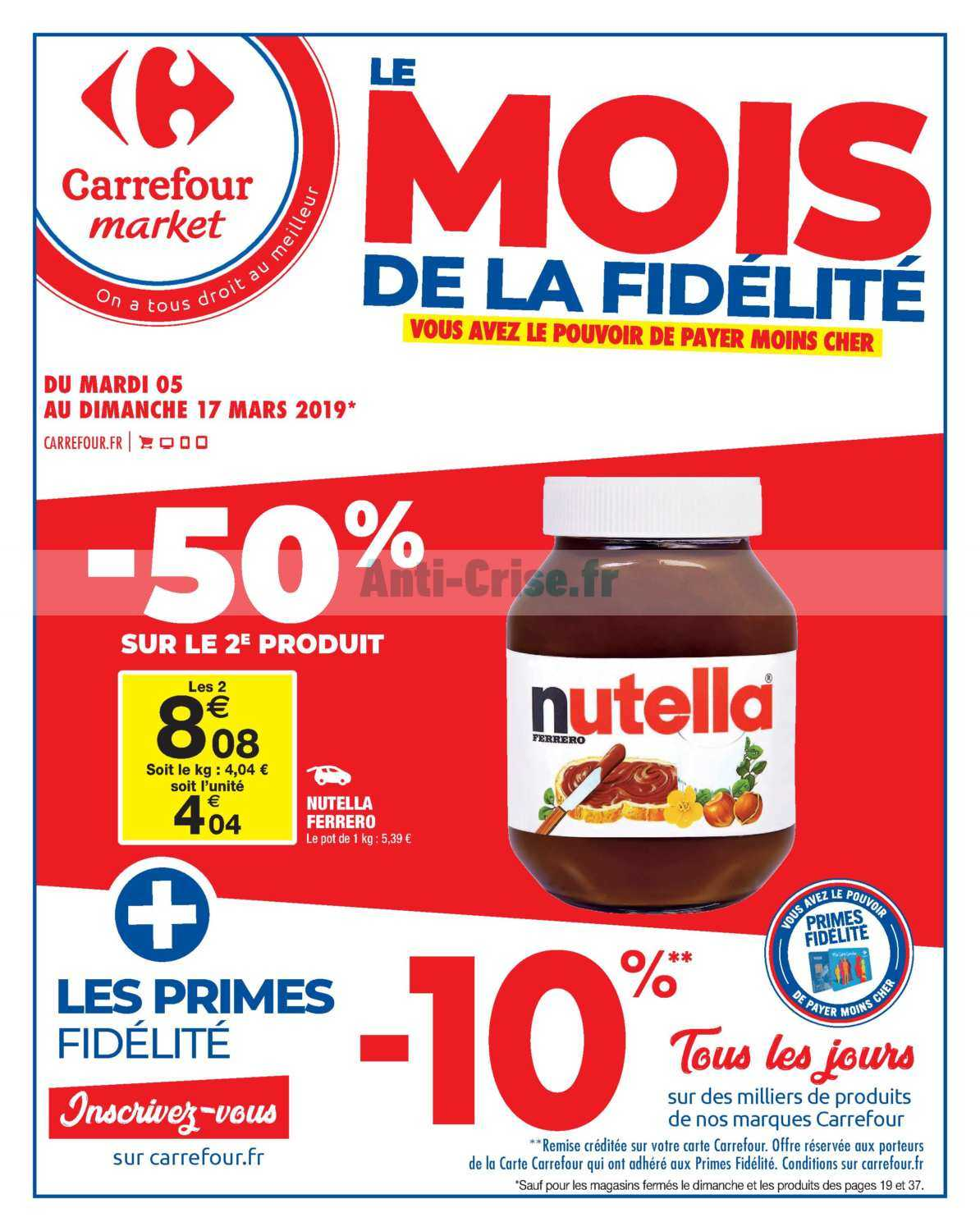 Catalogue Carrefour Market Du 05 Au 17 Mars 2019