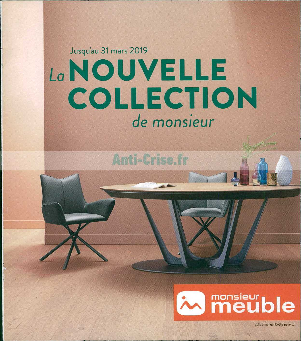 catalogue monsieur meuble du 26 f vrier au 31 mars 2019. Black Bedroom Furniture Sets. Home Design Ideas