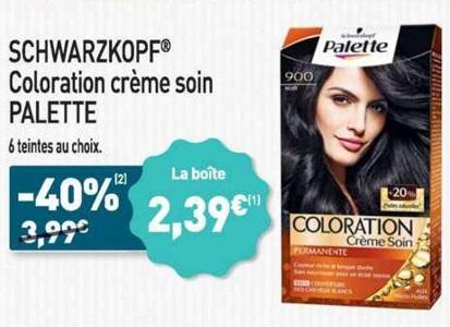 Bon Plan Coloration Palette Schwarzkopf chez Aldi (20/02 - 26/02) - anti-crise.fr