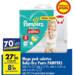 Bon Plan Culottes Baby-Dry Pants Pampers chez Carrefour (12/02 - 25/02) - anti-crise.fr