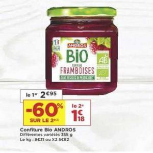 Bon Plan Confiture Bio Andros chez Casino - anti-crise.fr
