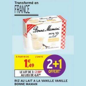 Bon Plan Mon Riz au Lait Bonne Maman chez Intermarché - anti-crise.fr