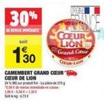 Bon Plan Camembert Coeur de Lion chez Carrefour Market - anti-crise.fr