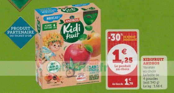 Bon Plan Kidi Fruit Andros chez Magasins U - anti-crise.fr