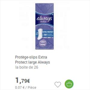 Protège-Slips Always Dailies partout