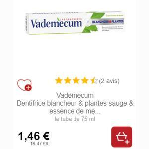 Dentifrice Vademecum Partout