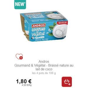 Bon Plan Gourmand & Végétal Brassé Andros chez Intermarché - anti-crise.fr