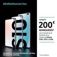 Offre de Remboursement Samsung : Jusqu'à 200€ Remboursés sur Galaxy S10