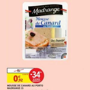 Bon Plan Mousse ou Terrine Madrange chez Intermarché - anti-crise.fr