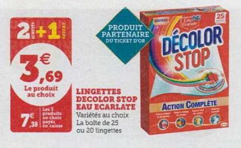 Bon Plan Lingettes Décolor Stop chez chez Magasins U - anti-crise.fr