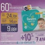 Bon Plan Couches Pampers Baby Dry chez Match - anti-crise.fr