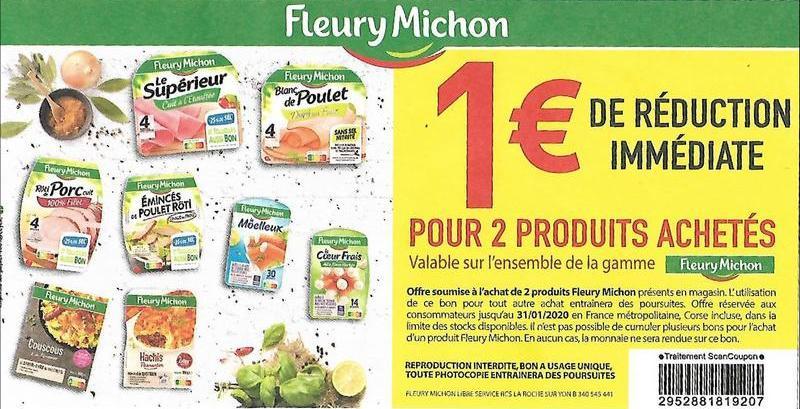 Fleury Michon 1 De Reduction Jusqu Au 31 01 2020 Bon De Reduction En Magasin Catalogues Promos Bons Plans Economisez Anti Crise Fr