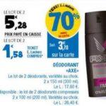 Bon Plan Déodorant Axe chez Leclerc Ouest - anti-crise.fr