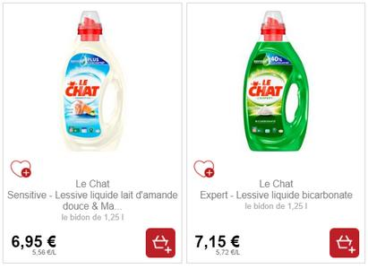 Bon Plan Lessive Liquide Le Chat partout - anti-crise.fr