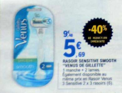 Bon Plan Rasoir Venus Smooth Sensitive de Gillette chez Leclerc - anti-crise.fr