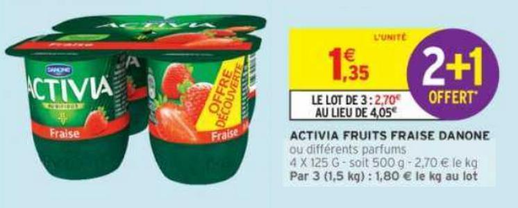 Bon Plan Yaourts Activia Fruits Danone chez Intermarché - anti-crise.fr