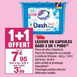 Bon Plan Lessive Dash Pods chez Carrefour Market - anti-crise.fr