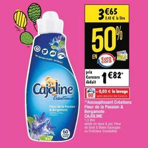 Bon Plan Adoucissant Cajoline Doux & Pur chez Cora - anti-crise.fr