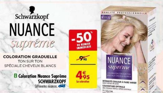 Bon Plan Coloration Nuance Suprême Schwarzkopf chez Carrefour - anti-crise.fr