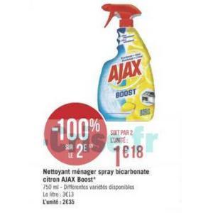 Bon Plan Nettoyant Ajax Boost chez Géant Casino - anti-crise.fr