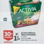 Bon Plan Activia Céréales chez Auchan Supermarché (20/03 - 26/03) - anti-crise.fr