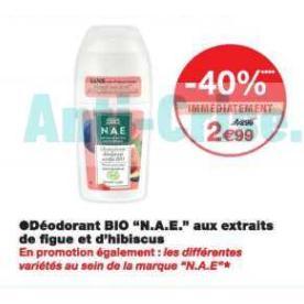 Bon Plan Déodorant N.A.E. chez Monoprix - anti-crise.fr