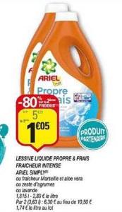 Bon Plan Lessive Liquide Ariel Simply chez Netto (05/03 - 15/03) - anti-crise.Fr