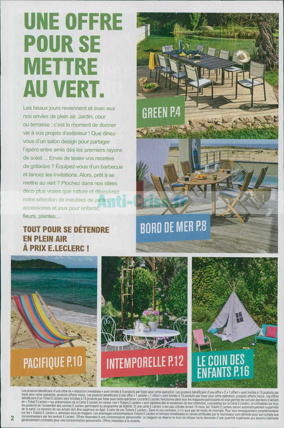 13 02 Catalogue au avril Leclerc du 2019Jardin kXiuZTPwO