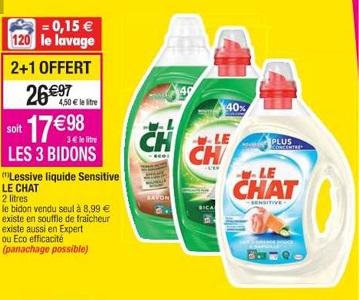 Bon Plan Lessive Liquide Le Chat chez Cora (05/03 - 11/03) - anti-crise.fr