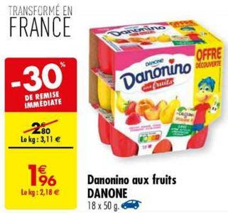 Bon Plan Danonino chez Carrefour (19/03 - 25/03) - anti-crise.Fr