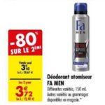 Bon Plan Déodorant Fa Men chez Carrefour (19/03 - 25/03) - anti-crise.fr