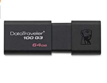 11€ la clé usb 64go Kingston Datatraveller