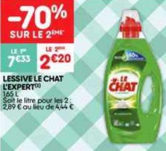 Bon Plan Lessive Liquide Le Chat l'Expert chez Leader Price (05/03 - 17/03) - anti-crise.fr