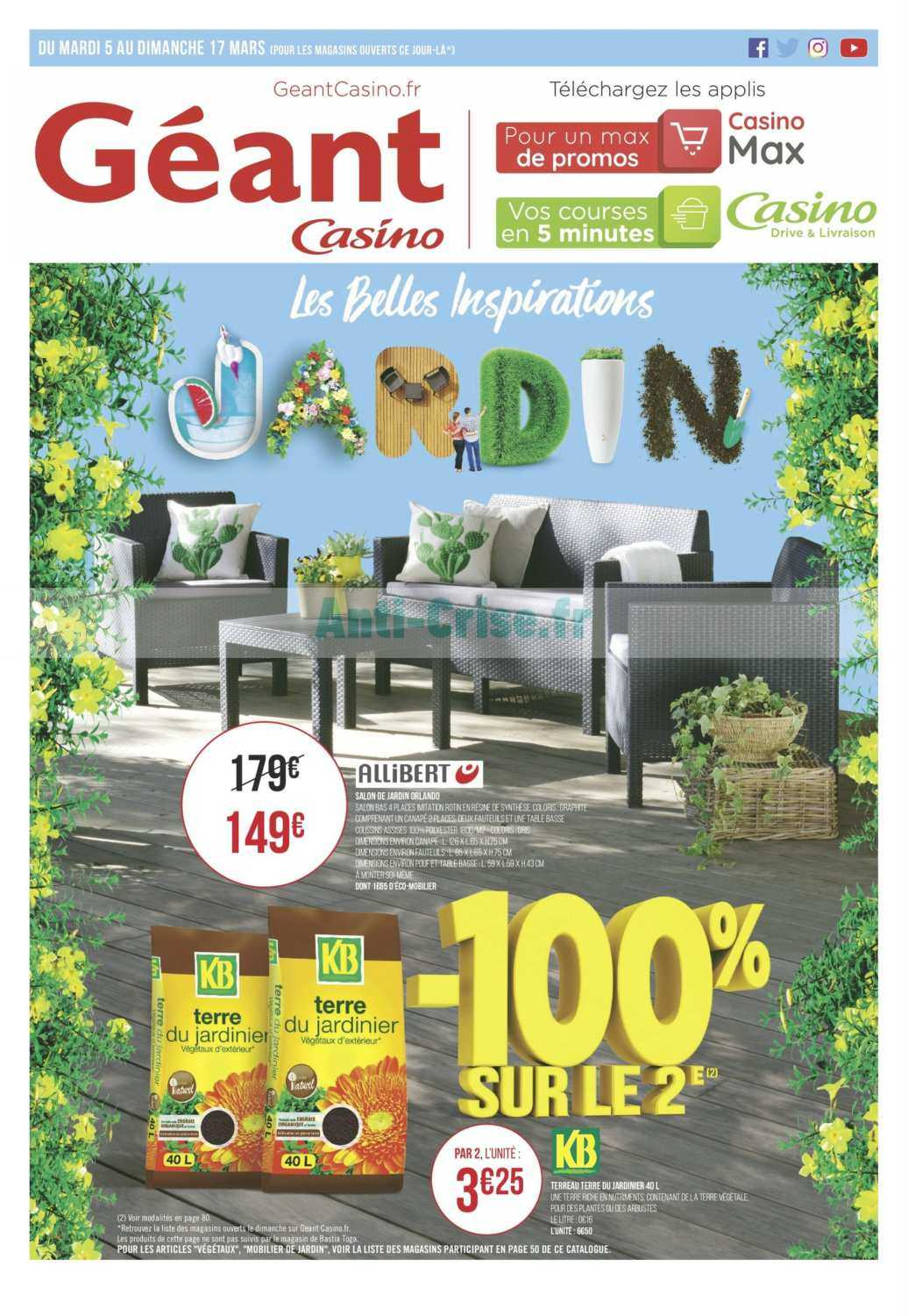 Catalogue Géant Casino du 05 au 17 mars 2019 (Jardin) - Catalogues ...