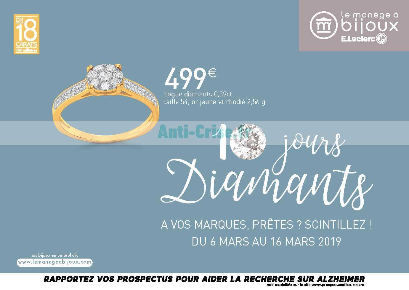 bague diamant leclerc