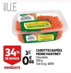 Bon Plan Carottes Râpées Pierre Martinet chez Auchan (20/03 - 26/03) - anti-crise.fr