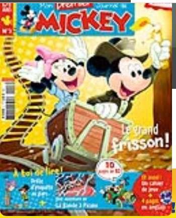Moins de 12€ l'abonnement d'1 an à mon premier journal de Mickey