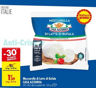 Bon Plan Mozzarella Di Bufala Casa Azzurra chez Carrefour (19/03 - 25/03) - anti-crise.fr