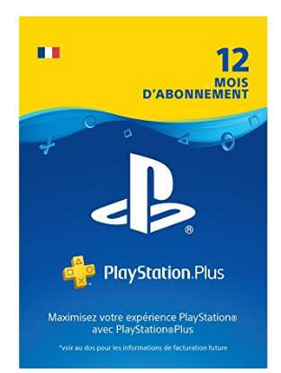 44.99€ l'abonnement 12mois Playstation Plus
