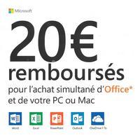 Offre de Remboursement Microsoft : 20€ Remboursés sur Office