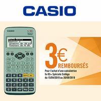 Offre de Remboursement Casio : 3€ Remboursés sur Calculatrice fx-92+ Spéciale Collège