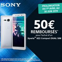 Offre de Remboursement Sony : 50€ Remboursés sur Xperia XZ2 Compact Dual Sim