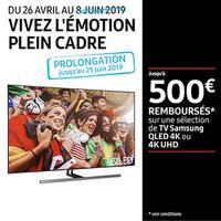 Offre de Remboursement Samsung : Jusqu'à 500€ Remboursés sur TV QLED 4K ou 4K UHD