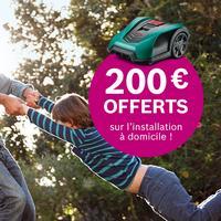 Offre de Remboursement Bosch : 200€ Remboursés sur Installation Tondeuse Robot Indego