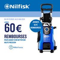 Offre de Remboursement Nilfisk : Jusqu'à 60€ Remboursés sur Nettoyeur Haute Pression