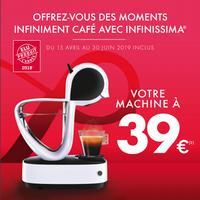 Offre de Remboursement Krups : Machine Dolce Gusto Infinissima pour 39€