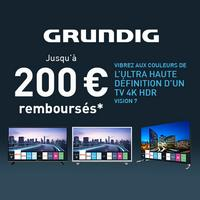 Offre de Remboursement Grundig : Jusqu'à 200€ Remboursés sur TV Vision 7 UHD