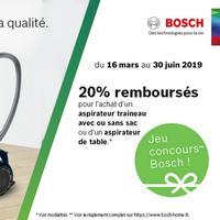Offre de Remboursement Bosch : 20% Remboursés sur Aspirateur Traineau ou Aspirateur de Table