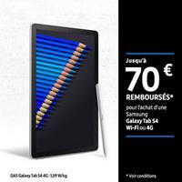 Offre de Remboursement Samsung : Jusqu'à 70€ Remboursés sur Galaxy Tab S4 Wi-Fi ou 4G